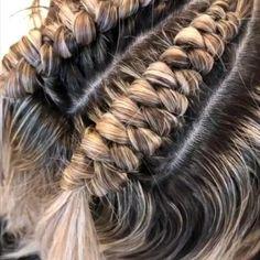 Hairdo For Long Hair, Hair Due, Easy Hairstyles For Long Hair, Braided Hairstyles, Hair Tutorials For Medium Hair, Medium Hair Styles, Curly Hair Styles, Athletic Hairstyles, Viking Hair