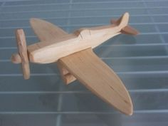 Spitfire airplane flier vintage wood handmade by woodendreams2013