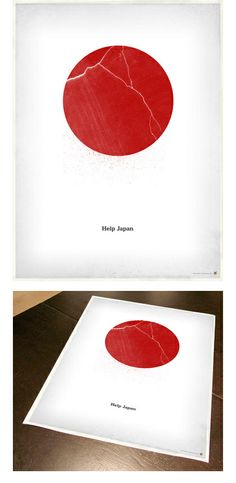 Help Japan poster. Profits go to Japanese disaster relief.