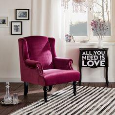 Maurice stylové křeslo ve fuchsiové barvě / living room armchair