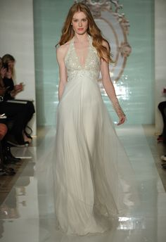 Halter tops were all over the Reem Acra Spring 2015 runway!  MCV Photo/The Knot