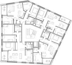 Plusenergie, die zweite: Mehrfamilienhaus in Frankfurt fertiggestellt Architecture Life, Residential Architecture, Architecture Details, Building Plans, Building Design, Hospital Floor Plan, Block Plan, Hotel Floor Plan, Apartment Floor Plans