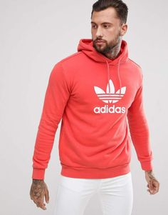 adidas Originals adicolor Hoodie With Trefoil Logo In Red CX1899 Red Adidas  Hoodie 06c4786be19