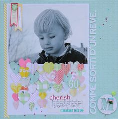 Layout by Sophie Crespy  Scrapbook Circle Best.Day.Ever. kit #DearLizzy @AmerCrafts #scrapbook