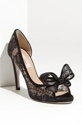 Sexy and elegant - the Valentino Bow Trip Lace Pump.  Want!