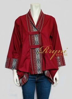 Batik Blazer, Blouse Batik, Batik Dress, Batik Fashion, Ethnic Fashion, African Fashion, Womens Fashion, Boho Fashion, Kurta Designs