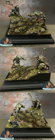 Ouroboros Miniatures Orc Diorama by Alan O'Bryan