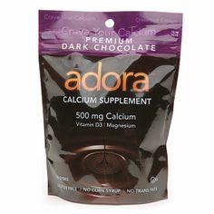 I adore Adora! A wonderful dark chocolate daily calcium supplement for $7.99
