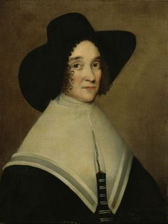 Hester PooksThe wife of John Tradescant again, painted by an unknown british artist around 1645. No apologies for the repeat as there aren't that many nice portraits of women from the 1640s and this is another good one. Hester is wearing a broad brimmed felt hat over a lace edged coif. You can only see the edging in the portrait, poking out from under the brim. She has a double layer linen kerchief over a black bodice and her smock has a high collar. Picture © 2011 University of Oxford –…
