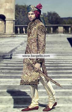 #Bespoke #menswear #Sherwani crafted in Rosewood color #velvet #groom #couture #indian #uk #desi #wedding #usa