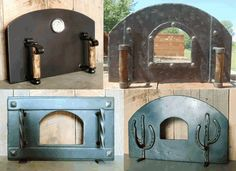 Four à pizza bois : Free-Standing Pizza Oven Doors Wood Oven, Wood Fired Oven, Wood Fired Pizza, Pizza Oven Fireplace, Pain Pizza, Oven Diy, Oven Design, Grill Oven, Bread Oven