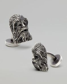 Chewbacca Cuff Links - Neiman Marcus For when you want to be fancy