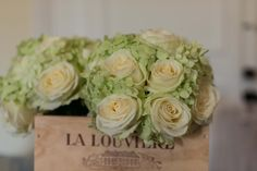 Roses and hydrangea such beautiful colours perfect for a dream wedding at Chateau Lagorce