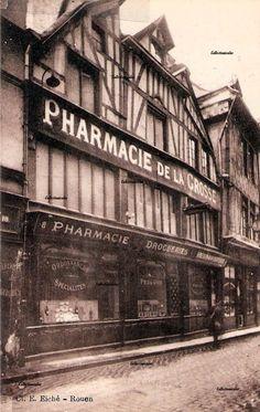 Rouen vers 1930 rue Ganterie - aujourd'hui boutique Oliver Grant
