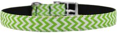 Mirage Pet Products 3/4' Chevrons Nylon Dog Collar with Classic Buckle, Size 14, Lime Green * Want additional info? Click on the image. (This is an affiliate link and I receive a commission for the sales)