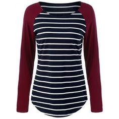 GET $50 NOW   Join Dresslily: Get YOUR $50 NOW!http://m.dresslily.com/raglan-sleeve-striped-comfy-t-shirt-product1706132.html?seid=t1vrn0Ifp2h447t1j2t7npfKn0