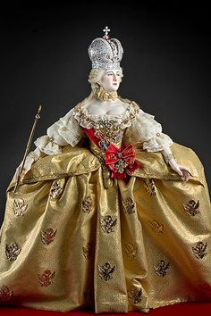 About Empress Catherine II (robes of state) aka. Catherine the Great from Historical Figures of Russia. Portrait by artist-historian George Stuart. Catelog name EmprsCath_II_Robes.