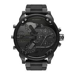 Diesel Men's Mr. Daddy 2.0 Black IP Chronograph Watch