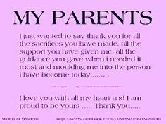 So true words ? So true words ? Parents Quotes From Daughter, I Love My Parents, Daughter Poems, I Love Mom, Best Parents Quotes, Thank You Mom Quotes, Mom And Dad Quotes, Mother Quotes, Family Quotes