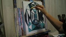 HOW TO PAINT AN EMERALD - live painting by Angel.Kourkoulou