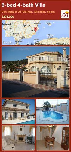 Villa for Sale in San Miguel De Salinas, Alicante, Spain with 6 bedrooms, 4 bathrooms - A Spanish Life Valencia, Portugal, Spanish Towns, Sun Canopy, Walk In Wardrobe, Grand Entrance, Private Garden, Patio Doors, Tenerife