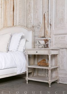 ELOQUENCE® Napoleon Nightstand in Weathered White