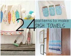 Every kitchen needs dish towels and with your sewing skills and this collection of patterns to make dish towels, you can make them yourself.