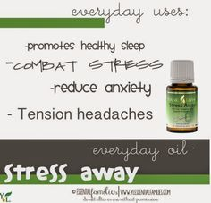Stress Away!  This oil has so many great stress relieving and anti-anxiety qualities and can even help with tension headaches. It's great diffused for stress relief too! This oil is the 11th oil that comes in the premium starter kit with the 10 every day oils and diffuser. More info about the oil, how to use it and how you can get your own bottle is on the blog! | Eat, Explore & Enjoy Blog