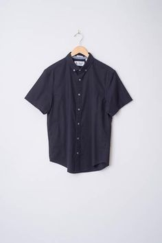 Short Sleeve Basic Oxford Shirt