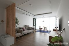 [시공사례] 철산 두산위브 / 24평 / 구정 브러쉬골드 애쉬브라운 / 따뜻한 우드 포인트 인테리어 / interior by 카멜레온 디자인 : 네이버 블로그 Modern Contemporary, Lights, Mirror, Interior Design, Bedroom, House, Furniture, Décor Ideas, Home Decor
