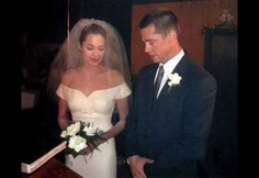 Angelina Jolie Wedding Dress Revealed