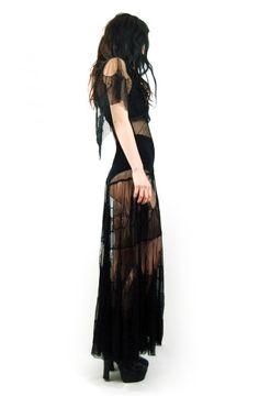 367dcbfd8a3ff6 EDWARDIAN LACE MAXI Gothic Fashion, Dark Fashion, Forest Fashion, Witch  Fashion, Alternative