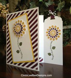 SU Card with bookmark - Polka Dot Pieces. Supplies list included | cindyleebee (6.9.14)