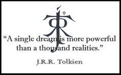 ~ J R R  Tolkien ~ Quote ~ Life ~ Dreams ~