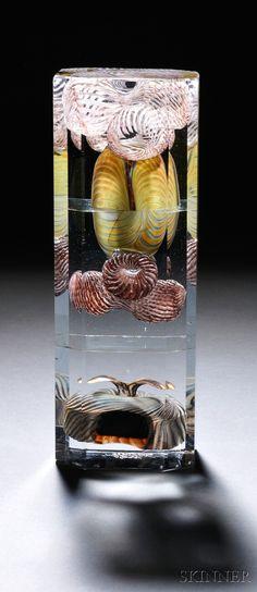 Oiva Toikka (Finnish, b. 1931) Glass Block Sculpture