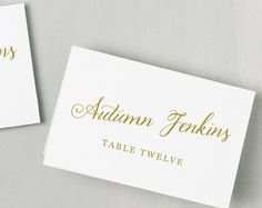 Printable Wedding Place Card and Escort Card Templates by Swell & Grand.  Compatible With Everly Place Card Paper!