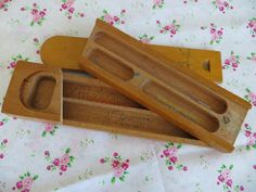 Awesome vintage wooden pencil case