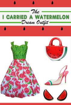 The I carried A Watermelon dream outfit. Inspired by Dirty Dancing and a love for all things fruity this post features cute items from Australian makers that you'll want to buy RIGHT NOW!