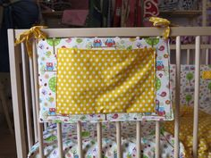 Porta-pigiama da lettino. Fantasia: birds&owls/yellowdots