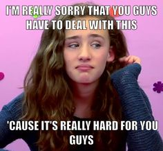 """Words of encouragement from Olivia of """"Kids React"""" in response to bullying."""