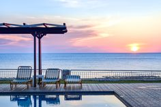#panoramahotel #falasarna #sunset #summer #sun #swimmingpool #perfectview #lovethisplace #everydayoftheweek #magic Summer Sun, Patio, Sunset, Outdoor Decor, Home Decor, Sunsets, Decoration Home, Terrace, Room Decor