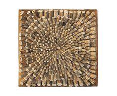 Leuk idee voor een wandobject, maar dan centrale punt uit het midden en combineren met andere materialen.