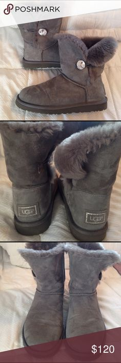 Authentic UGG Baily Bling Authentic Ugg Baily Bling short Boot. Size is 8 in grey. Gently worn. No damage or odor. No box UGG Shoes Winter & Rain Boots