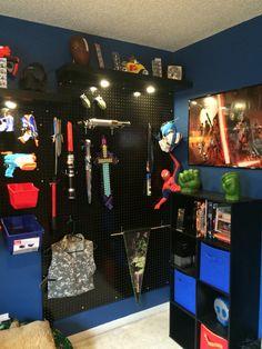 Nerf gun display cole pinterest chambres de gars for Amenagement jardin wepion