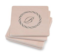 Here's a classic gift everyone in your wedding party will love! Sand stone coasters are personalized with a beautiful monogram. Great for parties and every day. Sandstone Coasters, Wedding Coasters, Rustic Stone, Thank You Note Cards, Custom Coasters, Newlywed Gifts, Engagement Party Invitations, Monogram Gifts, Coaster Set