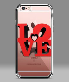 Loving this Black & Clear 'Love' iPhone Case on #zulily! #zulilyfinds