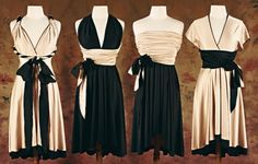 THE REVERSIBLE CHAMELEON- Convertible wrap dress- Custom made Cocktail Dress. $235.00, via Etsy.