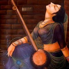 Indian art : which attracts your soul with meaningful paintings Krishna Painting, Krishna Art, Radhe Krishna, Lord Krishna, Meaningful Paintings, Fingerfood Baby, Meditation France, Yoga Lyon, Indian Paintings