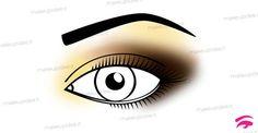 immagine di un occhio truccato