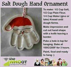 Hand print ornaments